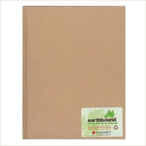 Earthbound Sketchbook Kraft 8 1/2 X 11-Blank Book