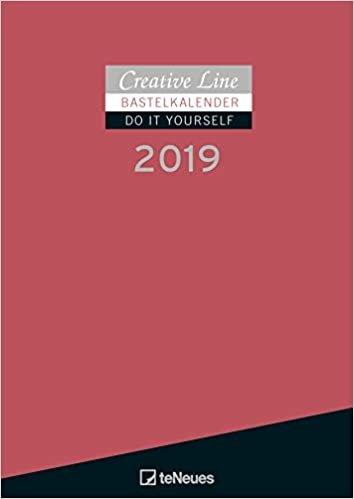 2019 Red Do it Yourself Calendar - 21 x 29.7 cm