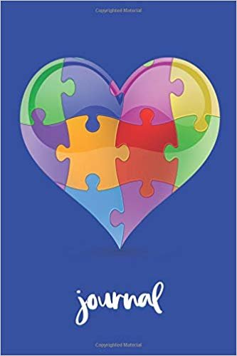 Journal: Autism Heart - 6 x 9 Inch Yoga Notebook 118 Lined Pages (6x9 Diary)