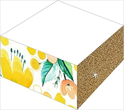 Notizblöcke mit Farb- und Glitterschnitt, Sortiert