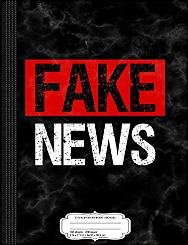 Fake News Costume Composition Notebook: College Ruled 9¾ x 7½ 100 Sheets 200 Pages For Writing
