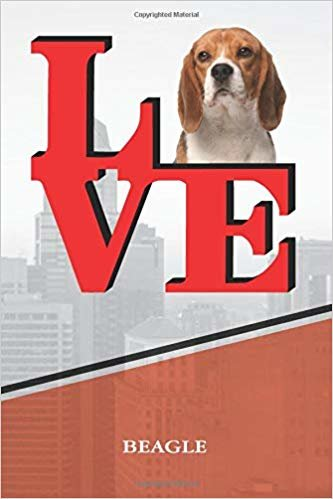 """Beagle: Dog Love Park Blood Sugar Diet Diary journal Notebook book is 120 pages 6""""x9"""""""