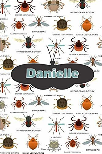 """Danielle: Bug Insect Comic Book Notebook Journal book 120 pages 6""""x9"""""""