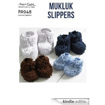Crochet Pattern Mukluk Slippers PA948-R (English Edition) [Kindle-editie]