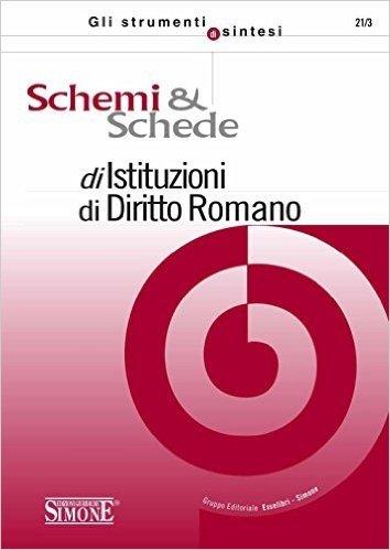 Schemi  e  Schede di Istituzioni di Diritto Romano (Gli strumenti di sintesi)