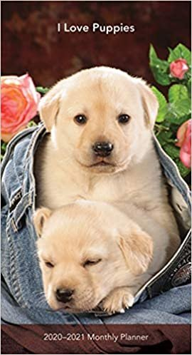 Puppies, I Love 2020 Two Year Pocket Planner