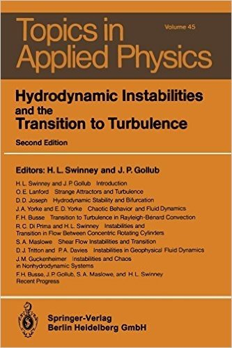 Hydrodynamic Instabilities and the Transition to Turbulence (Topics in Applied Physics)