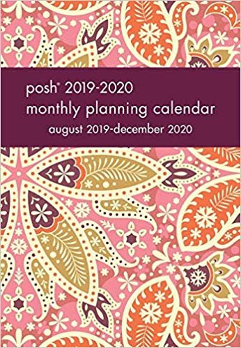 Posh - Boho Blush 2019-2020 Monthly Pocket Planning Calendar