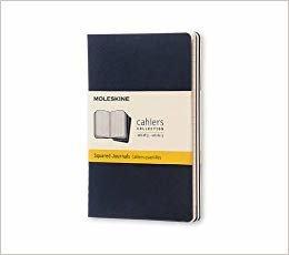 Cahier Bolso quadrados capa azul (Moleskine SR