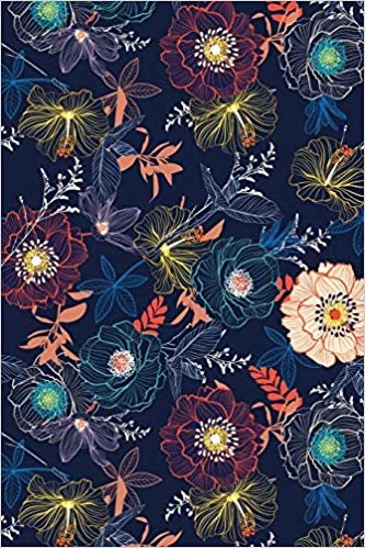 Inmate journal for women: Notebook with inspiring, positive and motivational quotes: Record your thoughts, document your progress: Navy floral cover