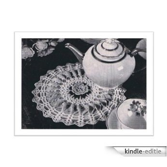 #2476 ROSE HOT PLATE MAT COVER VINTAGE CROCHET PATTERN (English Edition) [Kindle-editie]