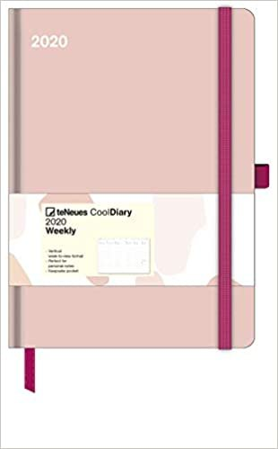 Diary - Antique Pink/Brush Strokes 2020 Large Cool Diary