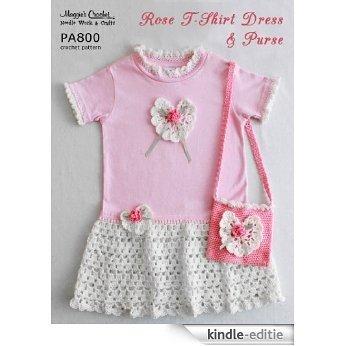 Crochet Pattern Rose T-shirt Dress Purse PA800 (English Edition) [Kindle-editie]