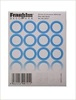 Anybook ses kalemi için mavi çıkartma seti (Franklin DRP5100 Anybook Kasa Yazılımlı) 400 çıkartma kodu, her biri 200 şeffaf ve 200 beyaz