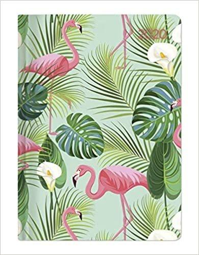 Mini-Buchkalender Style Flamingos 2020 - Taschenplaner - Taschenkalender A6 - Day By Day - 352 Seiten - Terminplaner - Notizbuch
