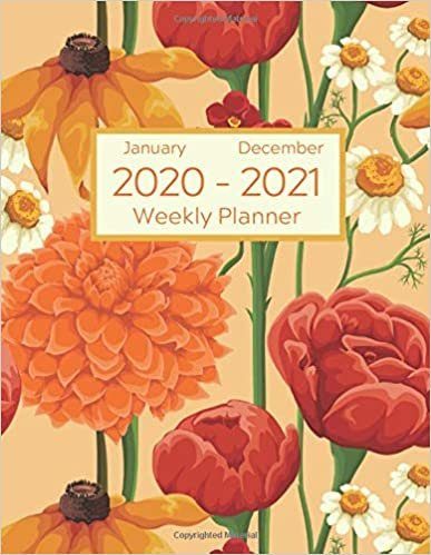 Weekly Planner - January 2020 to December 2021: 24 Month Daily, Weekly Planner Organizer. January 2020 to December 2021 - Summer Floral Design