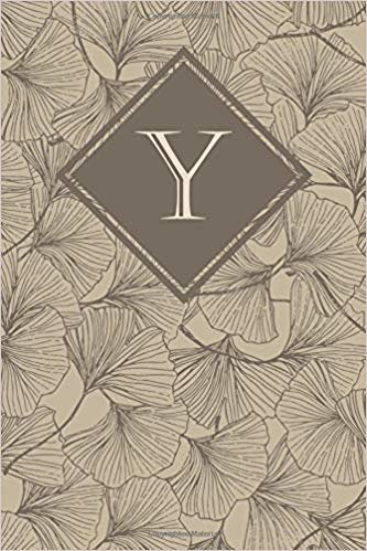 Y: Elegant monogrammed blank dotted journal: Beautiful and classic bulleted dot grid notebook: Dusty neutral floral pattern design