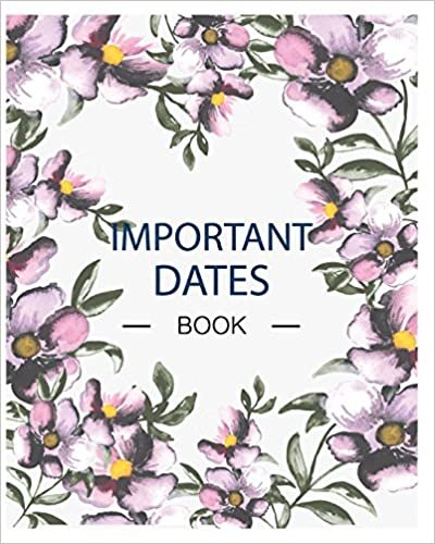 Important Dates Book: Floral Design with Important Dates Calendar, Monthly Quotes, To Do List, Notes, Christmas Card List