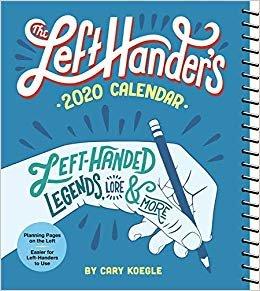The Left-hander's Weekly Planner 2020 Calendar