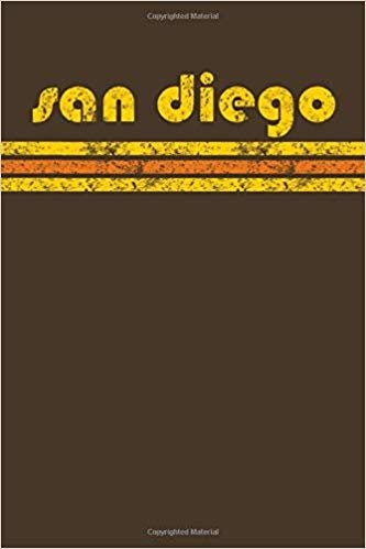 San Diego: California Notebook Journal Planner Retro Vintage Weathered 90 Pages Brown