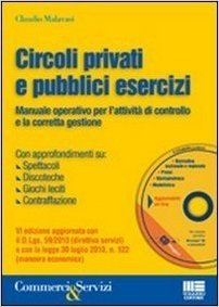 Circoli privati e pubblici esercizi. Manuale operativo per l'attività di controllo e la corretta gestione. Con CD-ROM