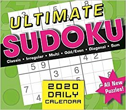 Ultimate Sudoko 2020 Calendar: Classic, Irregular, Multi, Odd/even, Diagonal, Sum