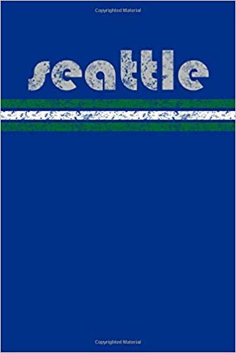 Seattle: Washington Notebook Journal Planner Retro Vintage Weathered 90 Pages