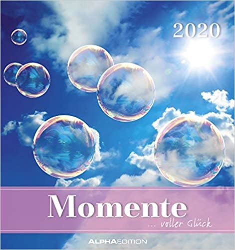 Momente voller Glück 2020 - Postkartenkalender (16 x 17) - mit Zitaten - zum aufstellen oder aufhängen - Geschenkidee - Gadget