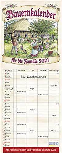 Bauernkalender 2021: Familienplaner - 4 große Spalten mit viel Platz