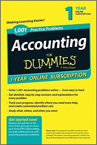 1,001 Accounting Practice Problems For Dummies Access Code Card (1-Year Subscription)