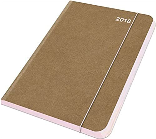 2018 Rose MidiFlexi Diary -  teNeues ColourLine - 12 x 17 cm