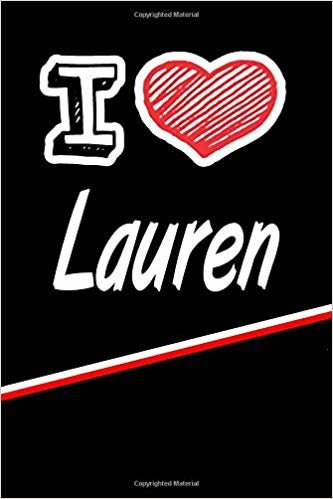 """I Love Lauren: Blood Sugar Diet Diary journal log featuring 120 pages 6""""x9"""""""