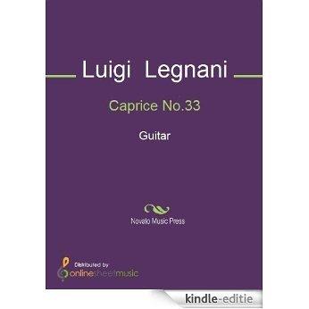 Caprice No.33 - Guitar [Kindle-editie]