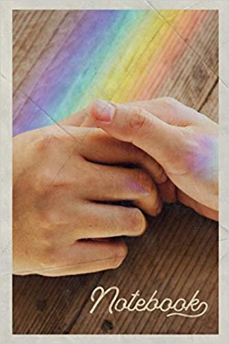 Notebook: Gay Holding Hands Handy Composition Book Journal Diary for Men, Women, Teen & Kids Vintage Retro Design for Pansexual Lovers
