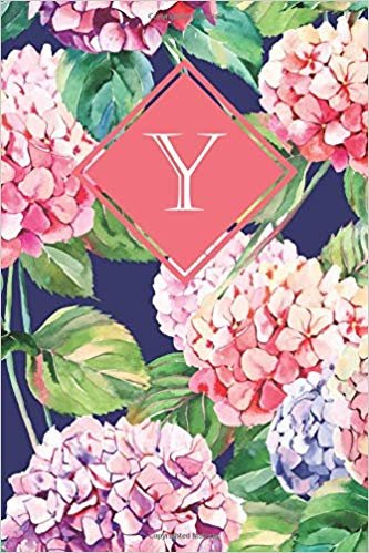 Y: Elegant monogrammed blank dotted journal: Beautiful and classic bulleted dot grid notebook: Ornate floral pattern design