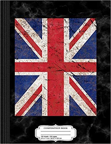 Vintage Union Jack Flag Composition Notebook: College Ruled 9¾ x 7½ 100 Sheets 200 Pages For Writing