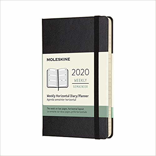 """Moleskine Classic 12 Month 2020 Weekly Planner, Hard Cover, Pocket (3.5"""" x 5.5"""") Black"""