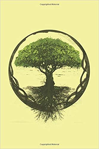 """Tree Of Life: Vintage Celtic Viking Yggdrasil Dream Journal Composition College Notebook and Diary to Write In / 120 Pages of Ruled Lined & Blank Paper / 6""""x9"""""""