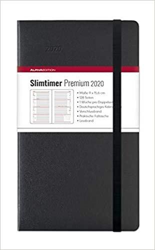 Slimtimer Premium Black 2020 - Taschenplaner