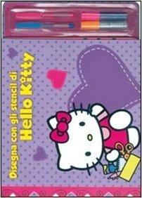 Disegna con gli stencil di Hello Kitty. Con stickers