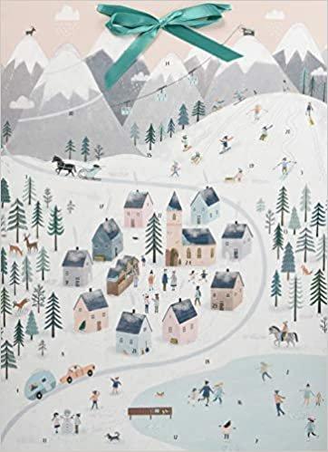 Wand-Adventskalender - Winterpanorama