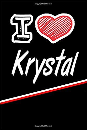 """I Love Krystal: Blood Sugar Diet Diary journal log featuring 120 pages 6""""x9"""""""