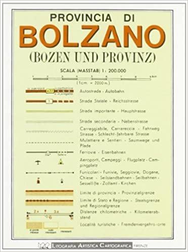 Bolzano Provincial Road Map (1:200, 000)