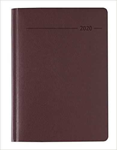 Buchkalender Balacron rot 2020 - Bürokalender A5 - Cheftimer - 1 Tag 1 Seite - 416 Seiten - Balacron-Einband - Terminplaner - Notizbuch