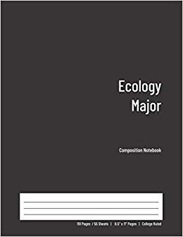 Ecology Major Composition Notebook: College Ruled Book for Students - Study, Write, Draw, Journal & more in this 110 page Workbook