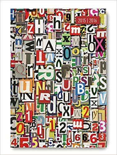Collegetimer Letters 2015/2016 - Schülerkalender A5 - Weekly - 224 Seiten