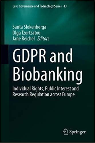 GDPR and Biobanking: Individual Rights, Public Interest and Research Regulation across Europe (Law, Governance and Technology Series)