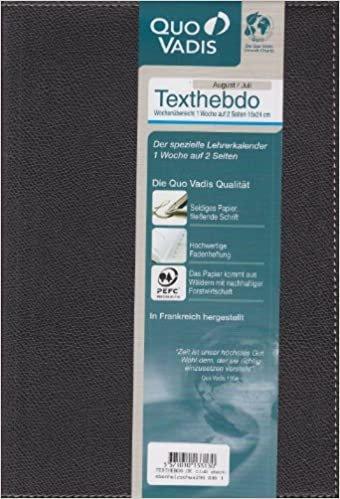 Taschenkalender 2020/2021 Texthebdo Club schwarz: Lehrerkalender