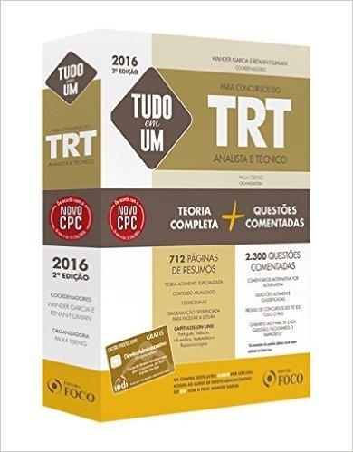 Tudo em Um Para Concursos do TRT Analista e Técnico