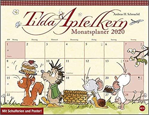 Tilda Apfelkern Monatsplaner 2020